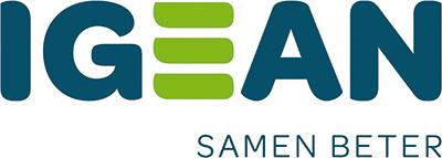 Het logo van IGEAN met daaronder de tekst