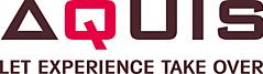 Het logo van Aquis met daaronder hun tagline: