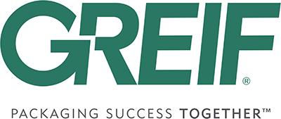 Het logo van Greif met daaronder de tekst