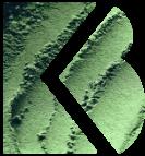 Het icoon van Martens & Brijs met doorgedrukte groene reliëf erdoorheen.
