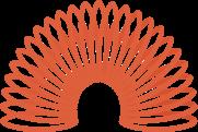 Een oranje icoon van een traploper om het flexibele karakter van Martens & Brijs te symboliseren.